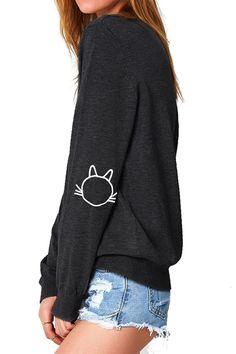 Awkwardstyles Besties Off The Shoulder Oversized Sweatshirt Bookmark 2XL Black