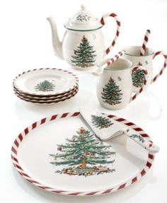 Spode Dinnerware, Christmas Tree Peppermint Collection – Holiday Dining – Dining & Entertaining – Macy's Christmas China, Spode Christmas Tree, Decoration Christmas, Christmas Dishes, Christmas Tablescapes, Noel Christmas, Xmas, 222 Fifth Dinnerware, Christmas Dinnerware Sets