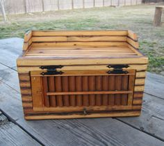 Reclaimed Wood Bread Box Country Decor by CountryByTheBumpkins