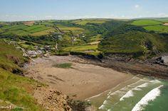 Crackington Haven Beach, from Penkenna Point, Cornwall