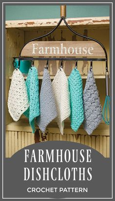I think this is a lovely pattern. So nice as a gift. Crochet Farmhouse Dishcloth Pattern | Country Washcloth Pattern | Crochet Pattern download #crochet #crochetpattern #ad #farmhouse #diy