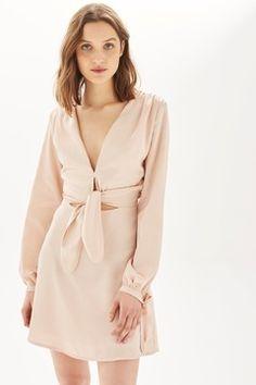 **Satin Long Sleeve Dress by Oh My Love