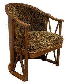 Josef Hoffmann, armchair in bentwood, original fabric, manufactured by J&J Kohn, 1908 Art Deco Furniture, Cool Furniture, Furniture Design, Interior Design History, Koloman Moser, Vienna Secession, Le Corbusier, Stage Design, Chair Design
