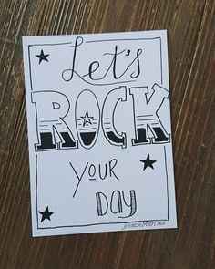 #kaartje #hoera #verjaardag #rockyourday #handlettering #handletteren #dutchlettering #denisemartina