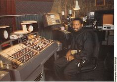Juan Atkins (Cybotron - Clear and many other tracks at the studio +/- 1988). http://www.mobeus.org/archives/juanatkins/