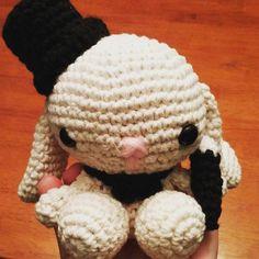 Who doesn't love magic and bunnies! One of my tlcreations:) #magic #bunnies #crochet #amigurumi by tanisleach