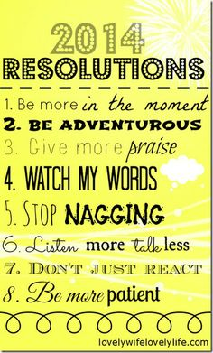 2014 Resolutions that everyone should make! <3
