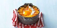 Œuf cocotte aux spaghettis de courge et saumon fuméLire la recette de l'oeuf cocotte aux spaghettis de courge et saumon fumé