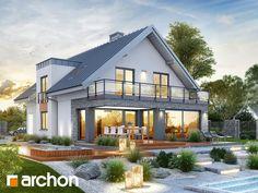 Haus in schwarz Flat House Design, House Extension Design, Dream Home Design, Home Design Plans, Modern Bungalow House, Bungalow Exterior, Barn Renovation, Terrace Design, Facade House