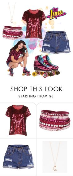 """""""soy  luna"""" by maria-cmxiv on Polyvore featuring Blue Les Copains, Swarovski and Full Tilt"""
