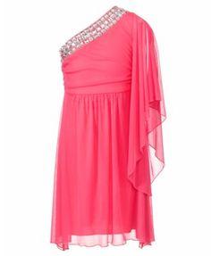 Ruby Rox Girls Dress, Girls One Shoulder Dress