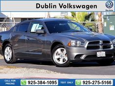 2011 Dodge Charger SE Gray Call for Price 73203 miles 925-384-1095 Transmission: Automatic  #Dodge #Charger #used #cars #DublinVolkswagen #Dublin #CA #tapcars