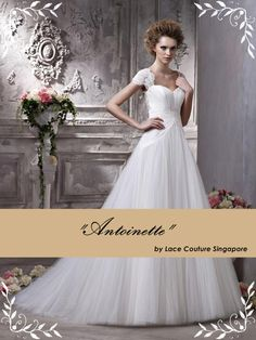 #weddingdress  -The Antoinette Dress-  Sale Price: S$650  Rent: S$450    Available at: www.facebook.com/lacecouture.weddings