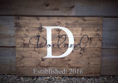 Guest Book Sign, Established Sign, The ___ last name Sign, Rustic Sign, Rustic…