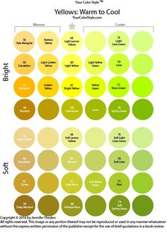 Shades of Yellow - Your Color Style