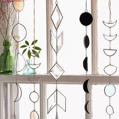 13. Collection of lovely window glass light hanging things