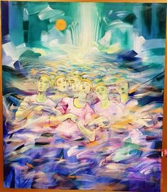 Voyadores in Acrylic by Pancho Piano Piano, Abstract, Artwork, Painting, Color, Summary, Work Of Art, Auguste Rodin Artwork, Painting Art
