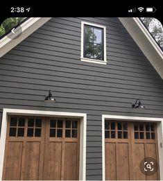 Exterior Paint Colors For House, Paint Colors For Home, Exterior Colors, Paint Colours, Grey Exterior, Siding Colors For Houses, Garage Exterior, Benjamin Moore Exterior Paint, House Paint Color Combination