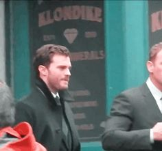 Jamie Dornan (Chrstian Grey) and Max Martini (Jason Taylor) on set of Fifty Shades Darker (March 1st, 2016) in Vancouver, Canada
