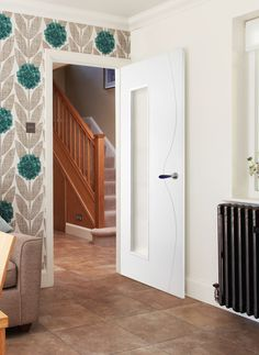 Model 20901 White (Bespoke) is a contemporary style door designed to suit in modern properties. White Interior Doors, White Doors, Contemporary Internal Doors, Contemporary Style, 4 Panel Doors, Viking House, Primed Doors, Modern Properties, Timber Door