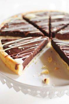 La tarte au chocolat la popote de Manue