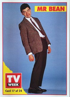 Mr bean cardboard standup im not sure what i would do with it but tv week 1994 television series trading cards mr bean card 17 of 24 solutioingenieria Choice Image