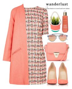 """Tweed Coral"" by bmaroso ❤ liked on Polyvore featuring Mason's, Boohoo, L.K.Bennett, Paper London, Christian Louboutin, Westward Leaning, Marula and Sunnylife"