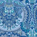 Alchemy Organic Fabric by Amy Butler - Flora in Sapphire