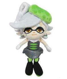 "Marie Green Squid Sister Licensed 9"" Sanei Splatoon Plush Series Description Splatoon is an upcoming third-person shooter video game developed and published by Nintendo for Wii U, which is scheduled f"
