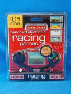Coleco 10 In 1 Handheld Electronic Racing Games Ten In One Plug in Play 2006 New #Coleco