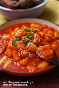 ddukboki....AKA best snack ever. (Korean Spicy rice cakes)