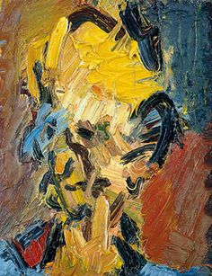 Frank Auerbach, Head of William Feaver, 2003. Oil on board, 451 x 406 mm. Collection of Gina and Stuart Peterson © Frank Auerbach, courtesy Marlborough Fine Art.