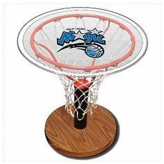 NBA Basketball Acrylic Sports Table with Orlando Magic Logo