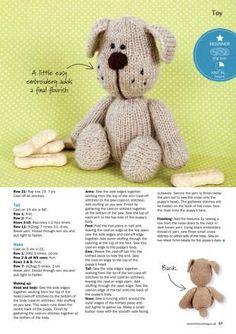 "Babydoll handknit designs knitting pattern 16/"" teddy ou construire un animal ours"