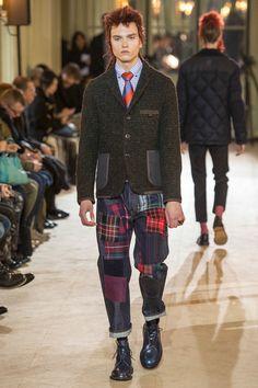 Junya Watanabe presented a renowned for designing innovative and distinctive clothing at Paris Fashion Week.