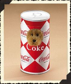 "Boyds Bears ""1950's Style Coke® Can"" 4.5"" Coca Cola® Bear-  #919966- NWT-2007 I own him."