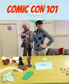 Nerd Craft Librarian Comic Con 101: must remember to con Tommy into doing this again