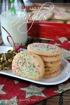 Jingles Shortbread Cookies- copycat of original, #holidaybaking #christmas www.shugarysweets.com