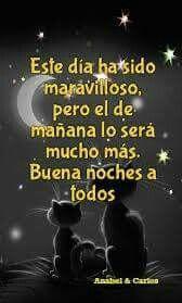 Mucho mejor que el de hoy!!! Felices Sueños Mundo!!! #anabelycarlos #buenasnoches ##sueñabonito