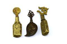 Lot Of 3 Rare Vintage Small Collectible Surmadaani/ Collyrium Box. G69-10