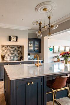 How To Design Your Dream Kitchen - Modern Open Plan Kitchen Diner, Kitchen Diner Extension, Open Plan Kitchen Living Room, Kitchen Dining Living, Home Decor Kitchen, New Kitchen, Kitchen Interior, Home Kitchens, Kitchen Ideas