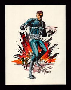 Nick Fury Detailed Illustration Drawn For Stan Lee's Birthday (Early 1970s) Comic Art For Sale By Artist Jim Steranko at Romitaman.com