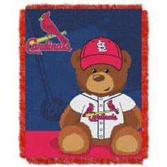 St. Louis Cardinals MLB Triple Woven Jacquard Throw (Field Baby Series) (36x48)
