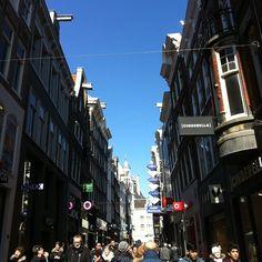 Kalverstraat in Amsterdam, Noord-Holland