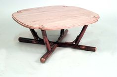 Rustic Old Hickory table coffee table oak Lodge Furniture, Old Hickory, Oak Coffee Table, Round Corner, Stool, Rustic, Home Decor, Country Primitive, Decoration Home