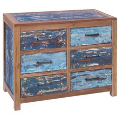 Really cool.  I'd love to recreate this one! Matilda Chest - Seaside Hues on Joss & Main