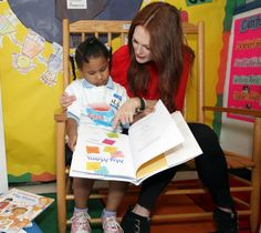 Authors we love: Julianne Moore Brings Books to Kids at Harlem Daycare Center.