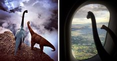 Travel Photos Are Instantly Better With Dinosaur Toys | Bored Panda