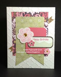 card by Jacquelin Green using CTMH Ivy Lane paper.... (change sentiment)