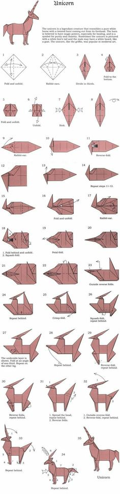 Origami Tutorial Unicorn 59 Ideas For 2020 Instruções Origami, Origami And Kirigami, Paper Crafts Origami, Oragami, Diy Paper, Simple Origami, Fun Crafts, Diy And Crafts, Ideias Diy